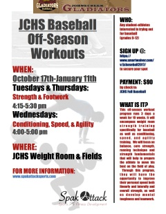 JCHS Off Season Workouts